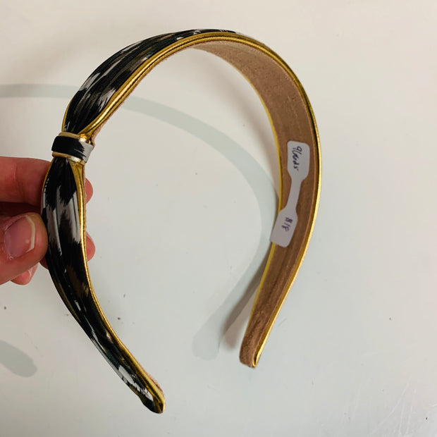 Animal Print Headband Gold Rim