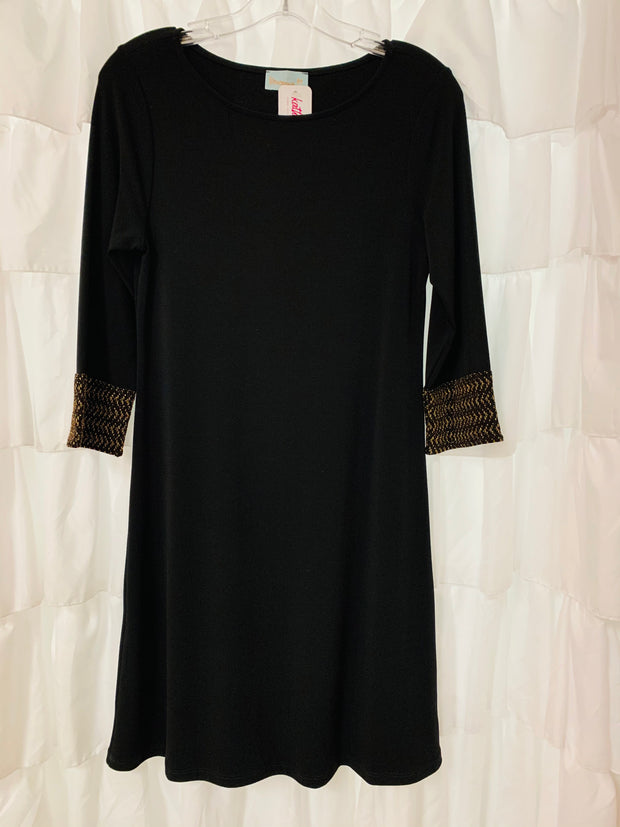 Shift Dress with Gold