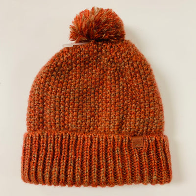 Lined Pom Beanie (Rust)