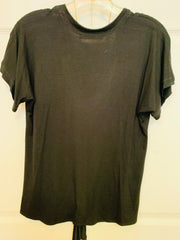Tee With Front Tie (Black)