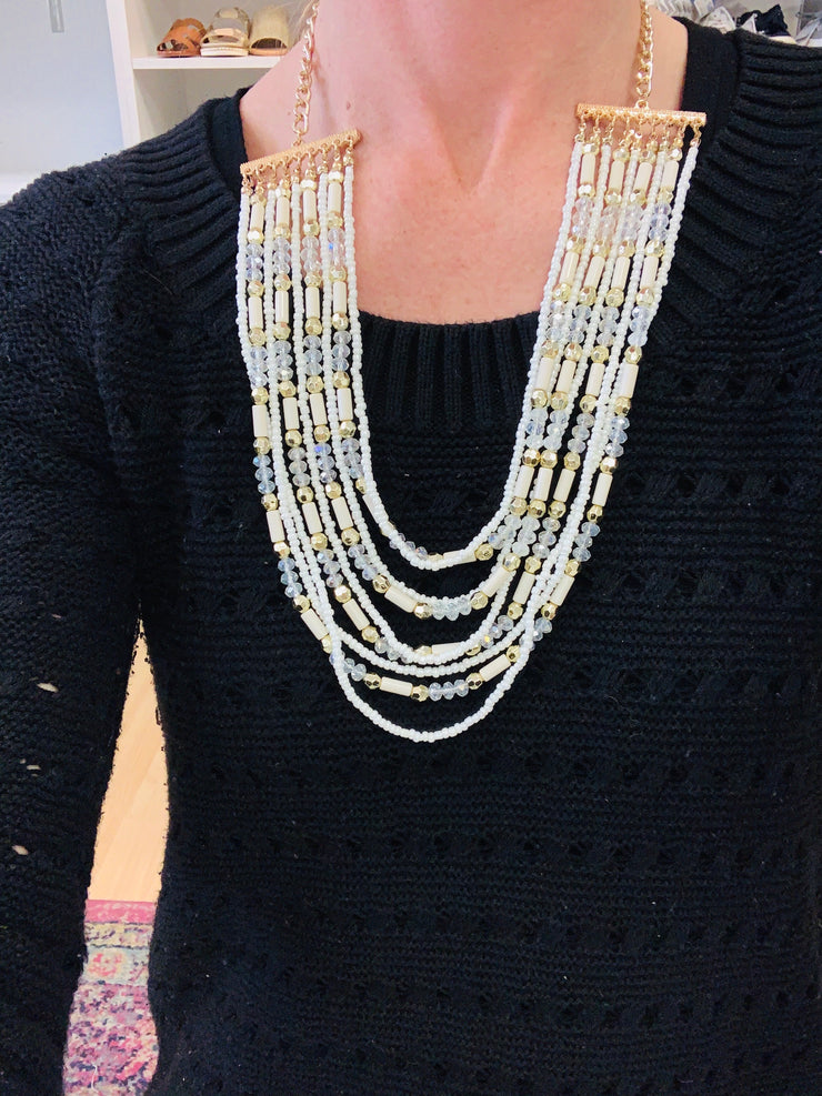 9 Strand Statement Necklace