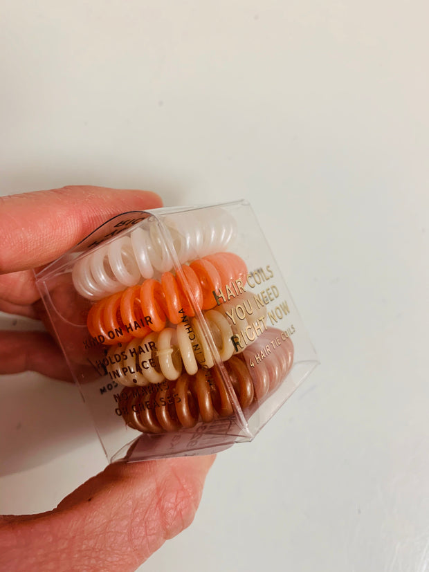 Hair Coils - Pack of 4 (Orange Multi)