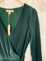 Pleated Dress (Emerald Green)
