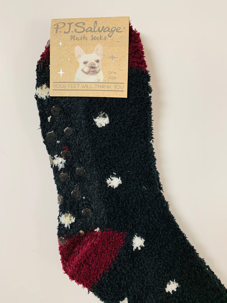 Polka Dot Fun Fuzzy Socks