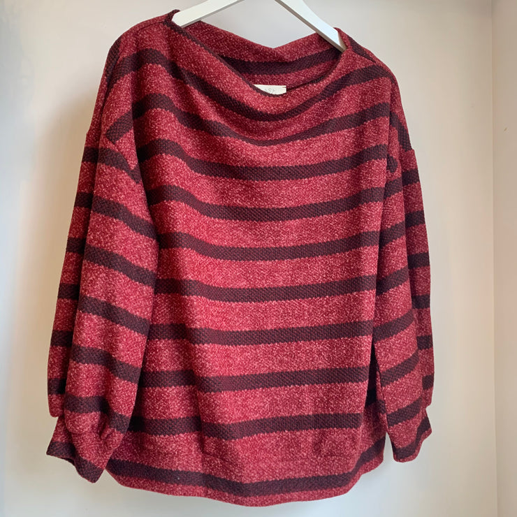 Striped Knit Fleece
