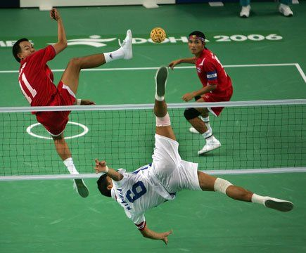 Le Sepak Takraw combine football volleyball et KungFu