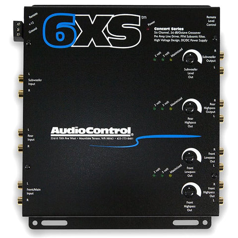 AudioControl 6XS 6 Channel Electronic Crossover (salmon grey)