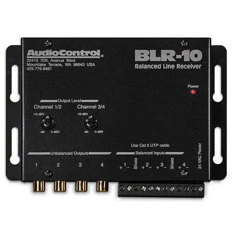 AudioControl BLR-10 4 Channel Balanced Line Receiver