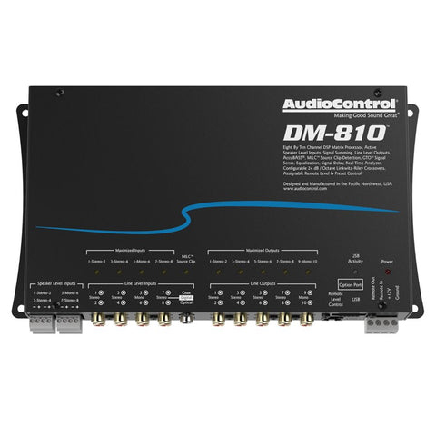 AudioControl DM-810 8x10 Channel Matrix DSP Processor