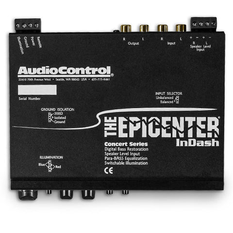 AudioControl EPICENTERINDASH Bass Restoration Processor w / SPL / Volt Display