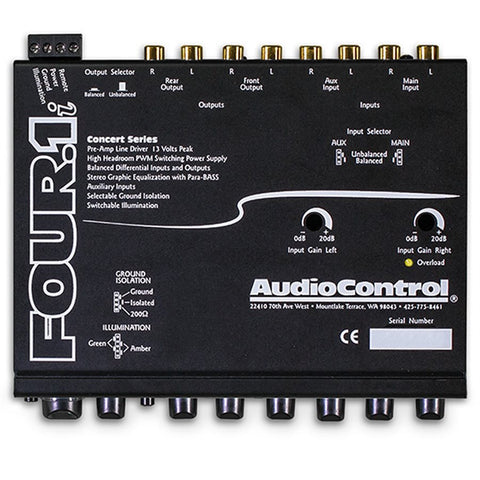 AudioControl FOUR.1I In-Dash Audio Equalizer with Auxiliary Input