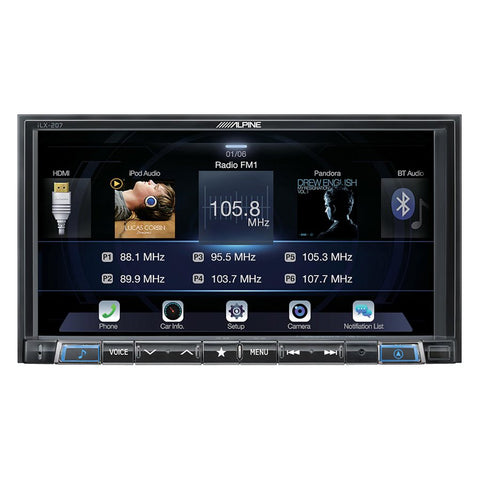 "Alpine ILX-207 7"" Mechless AV Receiver"