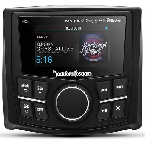 "Rockford Fosgate PMX-3 Marine 2.7"" Color Compact Digital Receiver"