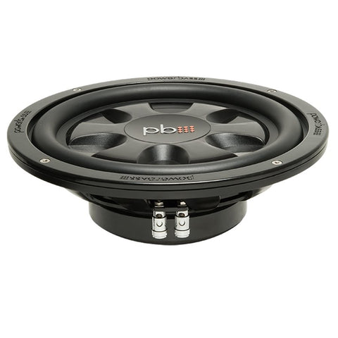 "PowerBass S-10T 10"" 4 Ohm SVC Thin Mount Subwoofer (single)"