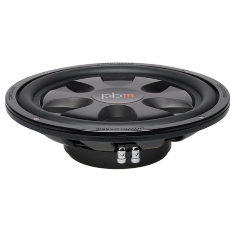 "PowerBass S-12TD 12"" Dual 4 Ohm Thin Mount Subwoofer (single)"