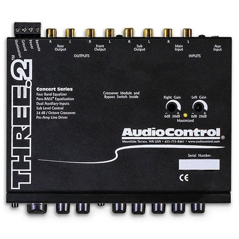 AudioControl THREE.2 Preamp / Equalizer and Subwoofer Crossover