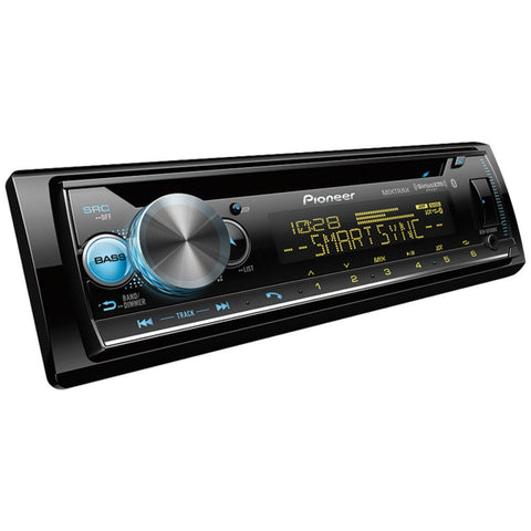 Pioneer DEH-S6100BS Single-DIN In-Dash CD Player with Bluetooth® & SiriusXM® Ready