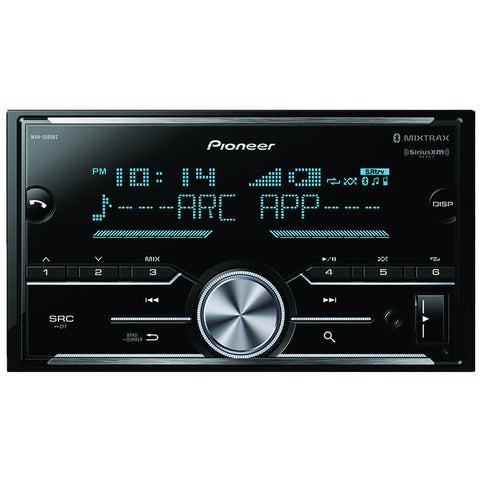 Pioneer MVH-S600BS Double-DIN In-Dash Digital Media Receiver with Bluetooth®, SiriusXM® Ready & 3 Pairs of High-Volt RCA Preamp Outputs