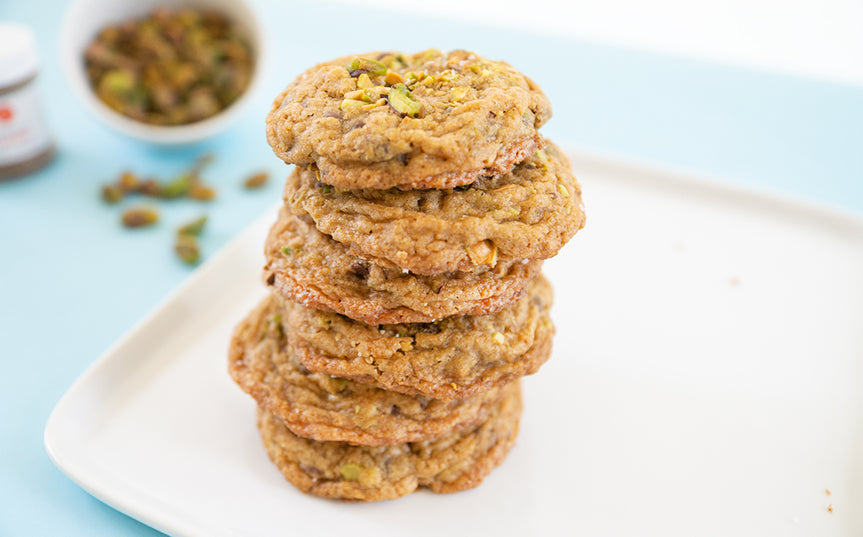 Spiced Chocolate Pistachio Cookies
