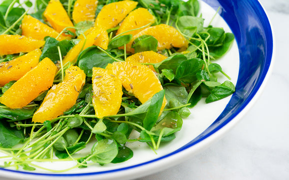 Watercress and Orange Salad with Fennel Seed Dressing