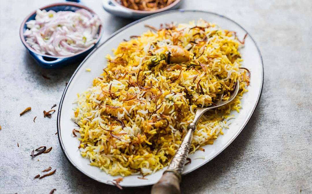 chicken biryani recipe using saffron