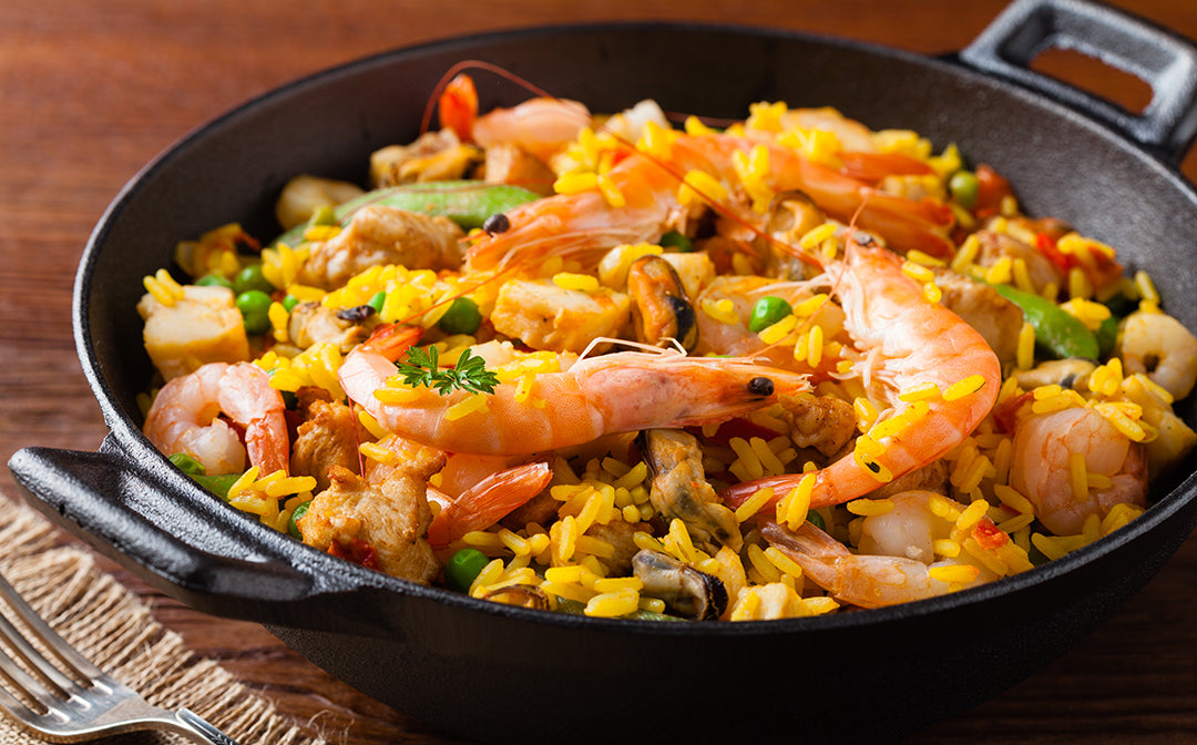 seafood paella recipe using saffron