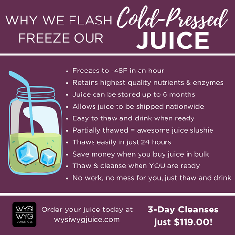 Flash Freeze Cold-Pressed Juice