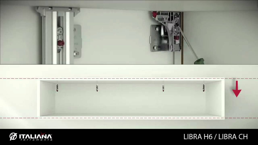 LIBRA H6 is the latest development in the cabinet hangers program offered by Italiana Ferramenta