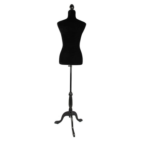 Stand Half-length Model Fiberglass Lady Model for Clothing Display Black