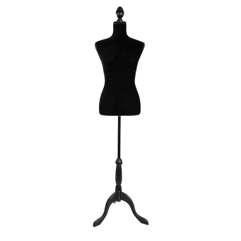 Stand Half-Length Hollow Foam Coating Lady Mannequin for Clothing Display Black