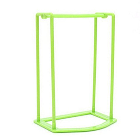 Barlingrock Plastic Hangers Organizer Rack, Creative Finishing Frame Hanger Companion Storage Rack-Stock Your Home Folding Clothes Hanger Ground Mounted Clothes Rack (Green)