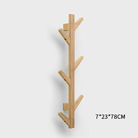 Coat Racks Modern DIY Entryway Wooden Clothing Rack Stand Hat Scarves Corner Hall Umbrella Tree for Bedroom Living Room Office Storage Rack,Natural,6Hook