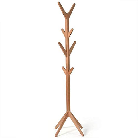 LE Solid Wood Coat Rack,Floor Simple Tree Shape Hanger Simple Modern Clothes Shelf Bedroom Living Room Hanger A