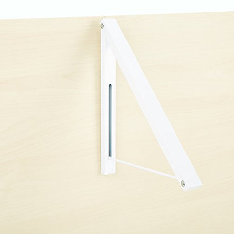 Mind Reader OPCLOSE-WHT Collapsible Open Hanger Rack, Wall Mounted Clothing Holder, Space Saver, White