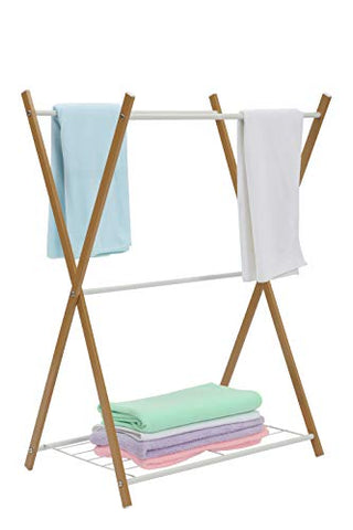 JEROAL Towel Rack Rail Stand Bathroom Storage Rack Laundry Drying Rack Hanger