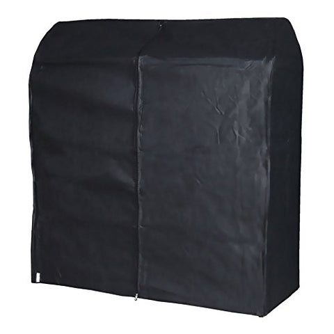 HANGERWORLD Black 4ft Breathable Zip Clothes Rail Cover Hanging Garment Storage Display
