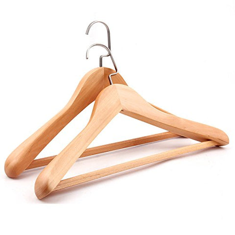 AIDELAI Coat Rack ?1 Pieces? Hanger ?Multifunctional High-Grade Solid Wood Suit Hangers ?Wide Shoulders?