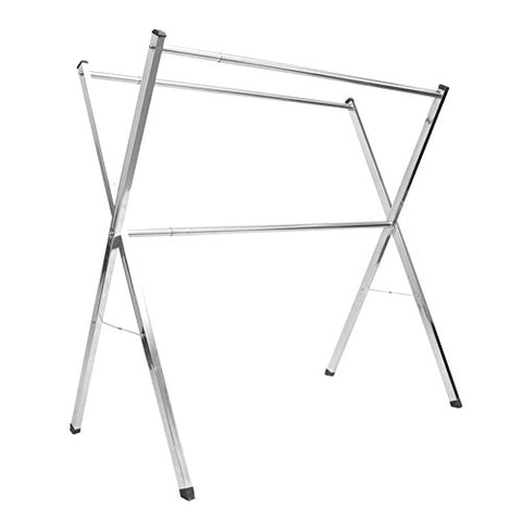 lililili Thicken Stainless steel Clothing garment rack,Floor standing Fold Double Hanger,X type Rack-A