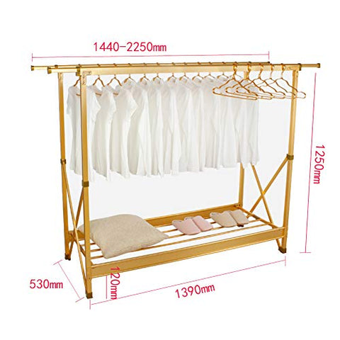 REDHOT Floor Clothes Drying Rack Thicken Dryer, Heavy Duty Foldable Clothing Dryer Rust-Proof Drying Sneakers Shoes Space Saver for Indoor Outdoor-C 125x139cm(49x55inch)