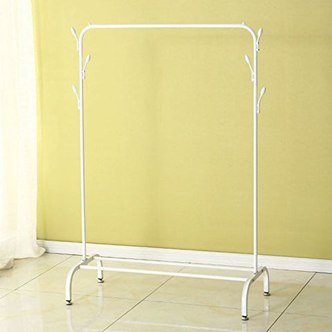 "lililili Clothing garment rack- chrome,Floor standing Multifuctional Hanger,Coat organizer storage shelving unit entryway storage shelf-A 40.5""Lx6.2""Wx65.7""H"