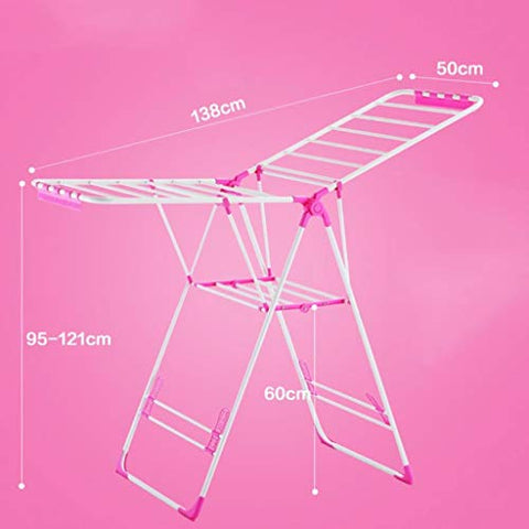 LE Wing Shape Drying Rack,Folding Drying Clothes Rack Indoor Balcony Simple Hanger Clothes Hanger Baby Diaper Rack D
