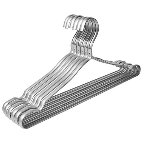 10-Piece Aluminum Alloy Hanger Multi-Function Seamless Drying Rack Suit/Shirt / Sling Hanger (Color : C)