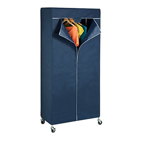 Honey-Can-Do GAR-02198 Garment Rack Cover, Navy Blue
