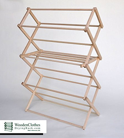 Medium Wooden Clothes Drying Rack by Benson Wood Products