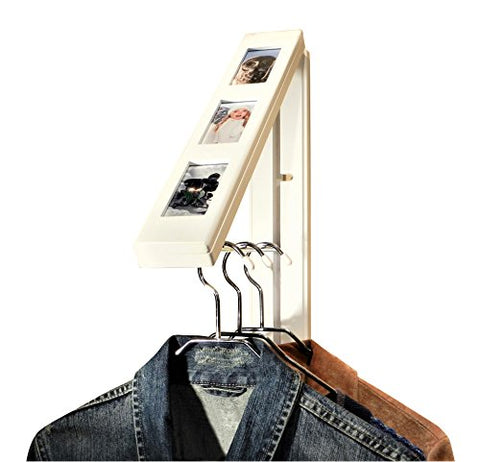 InstaHANGER Picture Perfect Closet Organizer, The Original Folding Drying Rack, Wall Mount