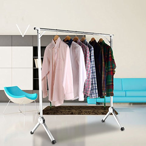 lililili Stainless steel Extendable hanging rack,Folded Clothing garment rack,Do not install,Heavy duty commercial grade hanger-C diameter240cm(94inch)