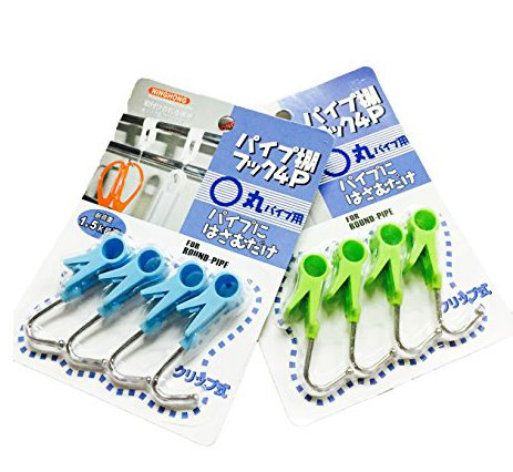 YouquTime 8 Pcs Portable Laundry Hook/Hanging Clothes Pins/Multi-Functional Clips/Stainless Steel Hook/Clothing Hanger Hold Clips, for Hanging Clothing or Kitchen Products