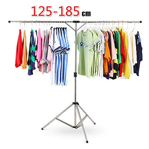 REDHOT Stainless Steel Portable Tripod Hanger Stand Clothes Drying Rack Collapsible Garment Racks Foldable Standing Laundry Racks for Drying Clothes-B 94x15cm(37x6inch)