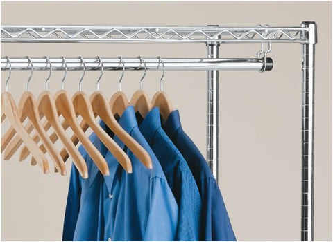 InterMETRO 48-Inch Clothes Hanger Tube Brackets
