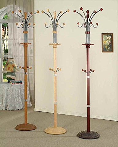 ADF Manhattan 74-Inch Coat Rack, Cherry